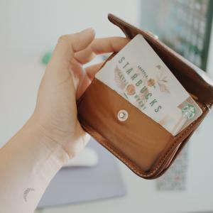 starbucks card in wallet