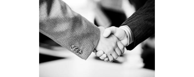 Black and white handshake 2